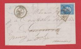 Lettre  //  De Metz  //  Pour Nancy  //  9 Février 1865  // - 1849-1876: Période Classique