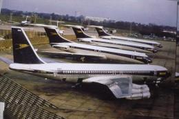 BOAC  B 707  G AWHU  VC 10  G ARVJ  HEATHROW AIRPORT - 1946-....: Era Moderna
