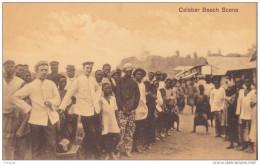 CO-  NIGERIA  CALABAR BEACH  SCENE  CPA  ANIMEE RARE - Nigeria