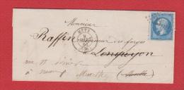 Lettre  //  De Metz  //  Pour Nancy  //  9 Mars 1864  // - 1849-1876: Période Classique
