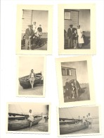 KUST- Blankenberge ? - Cabine, Bateau De Pêche,... - Lot Van 6 Foto´s (+/- 6 X 9 Cm) +/- 1948 (b157) - Ohne Zuordnung