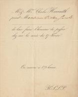 Invitation Charles Havenith Pour Ministre V Jacobs - Announcements