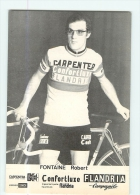 Robert FONTAINE . 2 Scans Cyclisme. Carpenter Confortluxe Flandria 1974 - Ciclismo