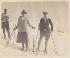 Ancienne Photo Ski Megeve Haute Savoie Alpes - Places