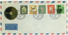 STORIA POSTALE - POSTA AEREA - MIT LUFTPOST PAR AVION BY AIR MAIL - DUSSELDORF - DRUPA 1958 - - Deutschland