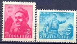 YU 1951-660-1 10A°RIBELLING MONTENEGRO, YUGOSLAVIA, 2v, MNH - 1945-1992 Repubblica Socialista Federale Di Jugoslavia