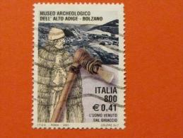 ITALIA USATI 2001 - MUSEO ARCHEOLOGICO ALTO ADIGE - SASSONE 2564 - RIF. G 1930 LUSSO - 6. 1946-.. Repubblica