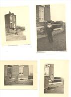 Photo Carte Et 17 Photos (+/- 6 X 9cm) Rue Nouvelle à WEGNEZ - Panorama - Ensival, Croix Rouge (b157) - Pepinster