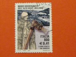 ITALIA USATI 2001 - MUSEO ARCHEOLOGICO ALTO ADIGE - SASSONE 2564 - RIF. G 1931 LUSSO - 6. 1946-.. Repubblica