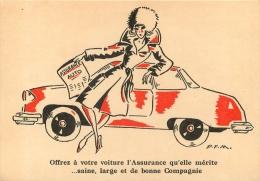 CARTE PUBLICITAIRE  ILLUSTRATEUR  P.F.M.   ASSURANCES F.N.A.M.B.  3 RUE DALOU A PARIS XV - Pubblicitari