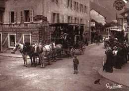 74 CHAMONIX 1895 Diligence Au Centre De Chamonix , Carte Moderne Gay Couttet - Chamonix-Mont-Blanc