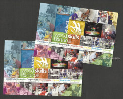 Portugal 2 Carte Entier Postal World Skills Travail Jeunesse 2015 World Skills Work Youth 2 Postal Stationery - Enteros Postales