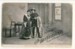 Cartolina LIRICA. Firenze 1903 Bohème Atto I ´Dammi Il Braccio O Mia Piccina´. Firmata Giacomo Puccini. Circolata - Italia