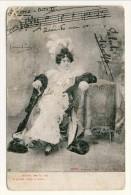 Cartolina LIRICA. Firenze 1903 Bohème Atto II '..soletta Per La Via La Gente Sosta E Mira...'. Circolata - Italia