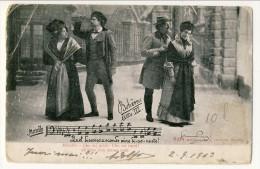 Cartolina LIRICA. Firenze 1903. Bohème Atto III 'Che Mi Gridi, Che Mi Canti. All'altar Non Siamo Uniti'´. Circolata - Italia