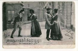 Cartolina LIRICA. Firenze 1903. Bohème Atto III 'Io T'acconcio Per Le Feste'. Firma Giacomo Puccini. Circolata - Italia
