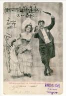 Cartolina LIRICA. Firenze 1903. Zazà, Atto I. ´A Noi Zazà´. Firma Leocavallo. Circolata - Italia