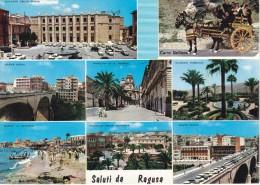 RAGUSA - Saluti Da Ragusa -1964- 8 Vedute - Palazzo Delle Poste - Ponte Nuovo - Spiaggia - Stazione - Ragusa