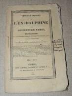 Violent Projet De L'ex-dauphine Pour Soumettre Paris - Charles X - 1830 - 1801-1900