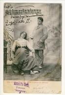 Cartolina LIRICA. Firenze 1903. Zazà, Atto I. 'Buona Zazà Del Mio Buon Tempo'. Firma Leocavallo. Circolata - Italia