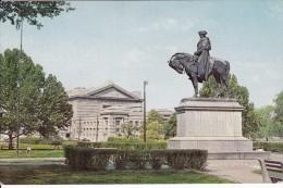 Cp , ÉTATS-UNIS , KANSAS CITY , Statue De Georges Washington - Kansas City – Missouri