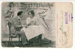 Cartolina LIRICA. Firenze 1903. Zazà, Atto IV. 'Che Notizie Mi Porti Da Parigi'. Firma Leocavallo. Circolata - Italia
