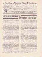 Bruxelles Rue De La Tribune Horloges électriques Franco-Belge Pointage & Appareils Enregistreurs - Publicités