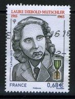 FRANCE 2015 / YT 4985   LAURE DIEBOLD MUTSCHLER  OBL. - France