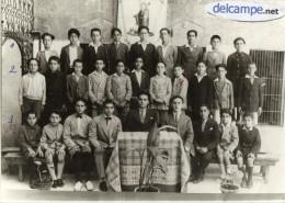 PHOTO    ANCIENNE Et  RARE -    Collège  Saint - Nicolas à  ALEP  (Syrie)  1931 -  Photo Des élèves  -  Classe De 7éme - Lieux
