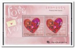 Korea 2001, Postfris MNH, Flowers, Heart - Korea, South