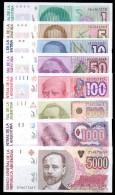 ARGENTINA SET 1 5 10 50 100 500 1000 5000 AUSTRALES 1985 - 1991 PICK 323 - 330 UNC - Argentine