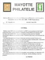 MAYOTTE - Bulletin N° 21 De La Société Mahoraise De Philatélie Et De Cartophilie (SMPC) - Non Classés