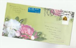 2008 UKRAINE Illus COVER FLOWERS Pic E Stamps INK BOTTLE QUILL PEN HORSE To GB, Airmail Label - Ukraine