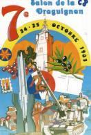 SALON DE LA CARTE POSTALE  DE DRAGUIGNAN  1987 * CAPITALE DE L'ARTILLERIE ILLUSTRATEUR  LENZI - Collector Fairs & Bourses