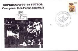 BUENOS AIRES SUPERCOPA 96 DE FUTBOL CAMPEON C.A.VELEZ SASFIELD PODIUM - UEFA European Championship