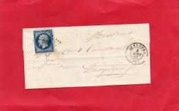 VAR 83 DE SAINT TROPEZ  À DRAGUIGNAN 1857 - Postmark Collection (Covers)