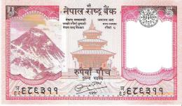 Nepal - Pick 60b - 5 Rupees 2010 - Unc - Nepal