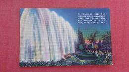 Famous Firestone Singing Color Fountains  NT Worlds Fair 1939 ====   == ==   2116 - Werbepostkarten