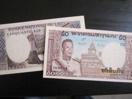 Billet : Laos, 50 Kip - Laos