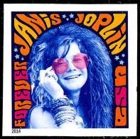 USA 2014 JANICE JOPLIN - MUSICIAN Imperforated / No DIE-CUTS MNH MUSIC - United States
