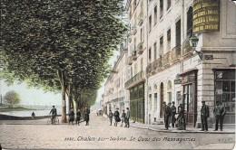 CHALON SUR SAONE - 71 -  -CPA COLORISEE Du Quai Des Messageries - ENCH2000 - - Chalon Sur Saone