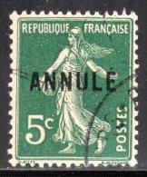 N° 137-CI 1 Oblitéré Signé BRUN  COTE= 58 Euros !!! - Cours D'Instruction