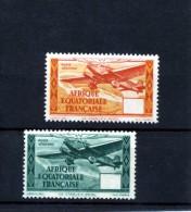 A.E.F- Poste Aérienne 1T. Sans Valeur Dans La Cartouche 1 Déplacé 1943 2 X N°38 - Autres