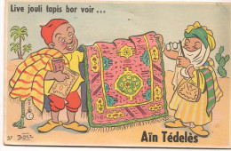 LJA_104 - Aïn Tédelès - Carte à Système - Tapis à Soulever - Algeria