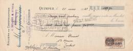 Lettre Change 25/3/1929 Girodin Ségoin Simon Ateliers Construction QUIMPER Finistère Pour Sainte Marine - Lettres De Change