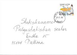 Mi 339 Solo Stamp Commercial Cover - 3 May 1999 Põltsamaa - Vilsandi Lighthouse - Estonia