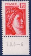 Sabine De Gandon : 1,20 Rouge (n°1974) Avec Numéro De Presse TD6-6 - 1977-81 Sabine De Gandon