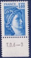 Sabine De Gandon : 1,40 Bleu (n°1975) Avec Numéro De Presse TD6-3 - 1977-81 Sabine De Gandon