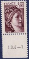 Sabine De Gandon : 3,00 Brun (n°1978) Avec Numéro De Presse TD6-1 - 1977-81 Sabine De Gandon