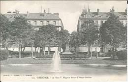 CPA 38 - Grenoble - La Place Victor Hugo Et Statue Hector Berlioz - Grenoble